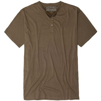 "ADAMO T-Shirt ""Silas"" with buttons khaki"