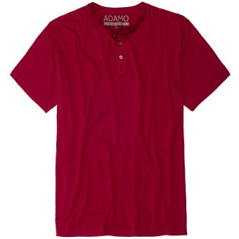 """ADAMO T-Shirt """"Silas"""" with buttons burgundy"""