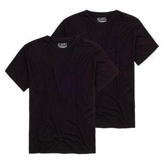 """ADAMO T-Shirt """"Kilian"""" twin pack black"""