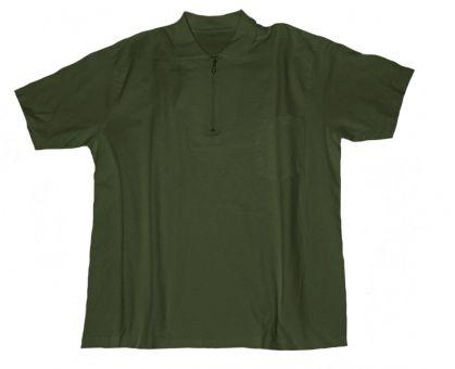 Polo T-Shirt con taschino e con Zip armygreen