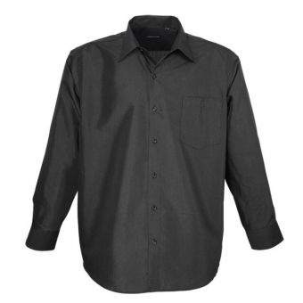 Camicia Lavecchia a maniche lunghe in nero
