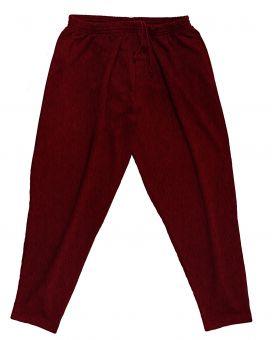 Pantalone da jogging rosso scuro