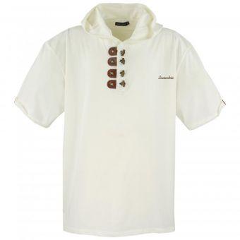 Lavecchia T-Shirt con cappuccio in Crema-white