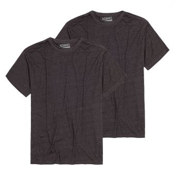 "ADAMO T-Shirt ""Kilian"" twin pack antracite mottled"