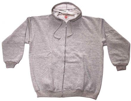 Giaccia sweat con cappuccio grigio