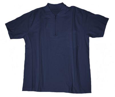 Polo T-Shirt con taschino e con Zip blu-navy