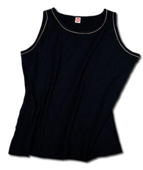 Shirt con spalline/Tanktop nero