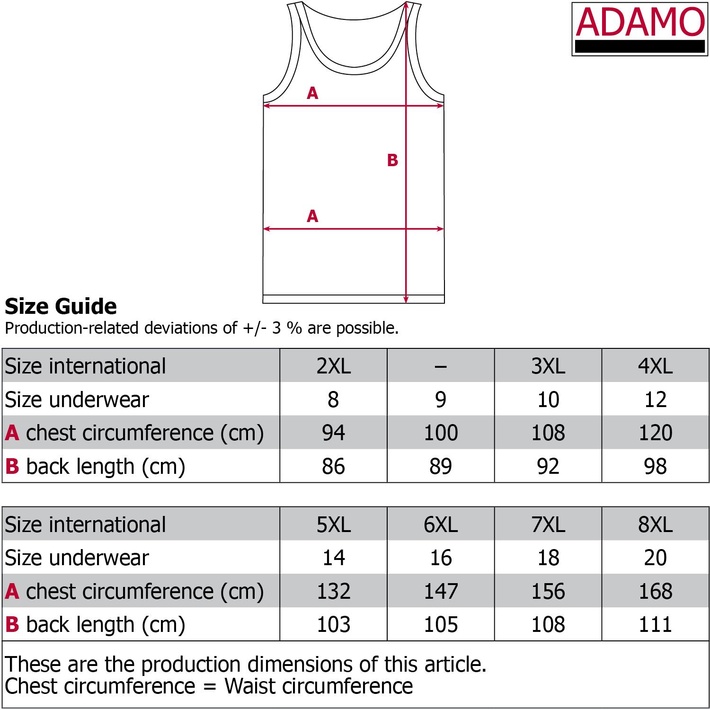 Sizes Chart